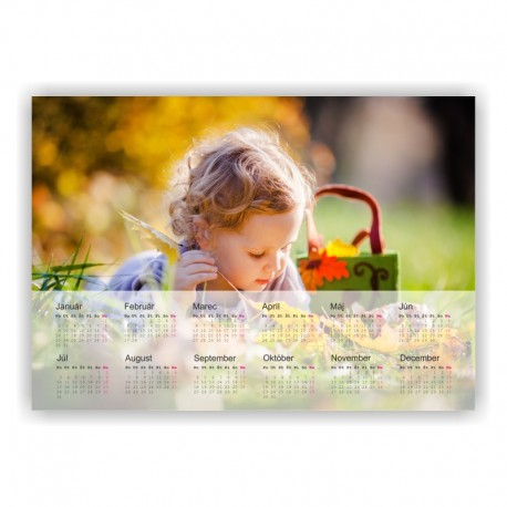 Kalendár fotomagnetka 20x14 cm